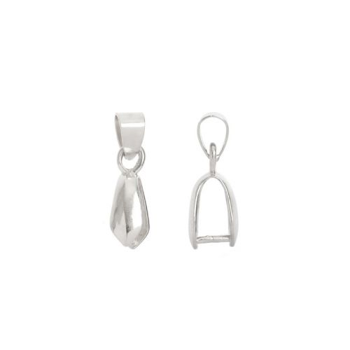 X Titanium Plated Pinch Bail with Loop For Large Pendant 5x11mm Pk1