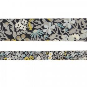Liberty of London Style Ribbon Flat Fitzgerald Grey Mix 20mm 1m