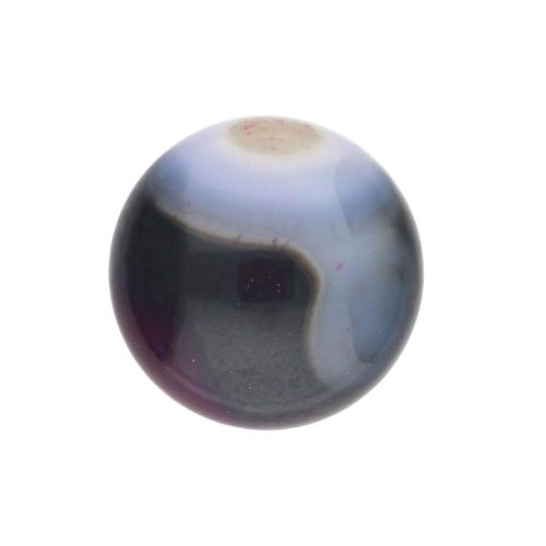 Agate / cabochon / round / 16x16x5mm / multicolour / 1pcs