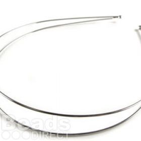 "Silver Colour Tiara Base Double Band 14"" Pk1"