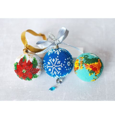12 Designs Of Christmas Day 12 - How to Make a Crochet Beaded Bauble