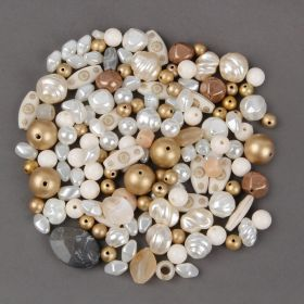 Golden Assorted Acrylic Bead Mix 90g