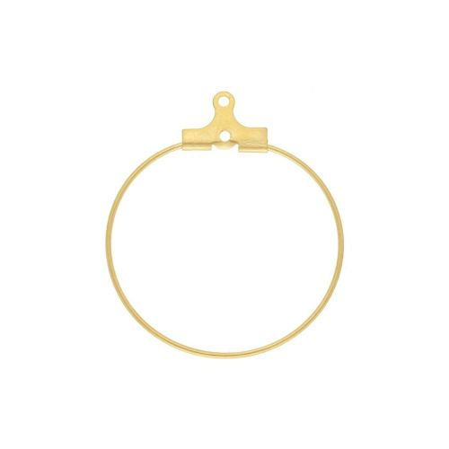 Circle / earring base / surgical steel / wire thickness 0.9mm / 29x25mm / gold / 1pcs