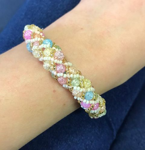 Learn how to make an ice crystal bangle - step by step tutorial