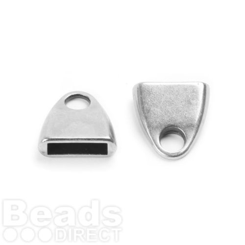 Antique Silver Zamak Cord Ends 13mm for 10mm Flat Leather Pk2