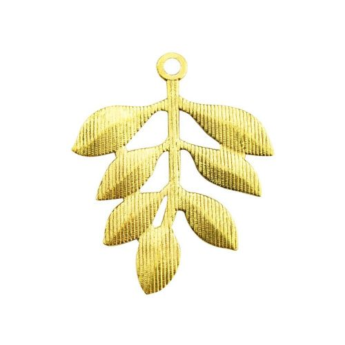 FancyCharm™ / tree branch / charm pendant / 35x28mm / gold plated / hole 2mm / 1pcs