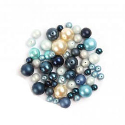 X- Preciosa Czech Glass Bead Mix Blue Pearl 50g