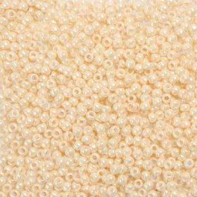 Toho Size 8 Round Seed Beads Opaque Lustered Light Beige 7.5g Tube