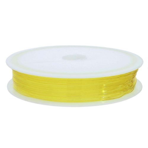 Silicone rubber / spool / 0.6mm / yellow / 15m