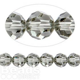 5000 Swarovski Crystal Faceted Rounds 8mm Black Diamond Pk6