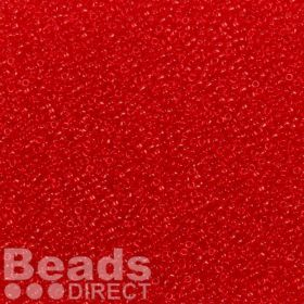 Toho Size 15 Round Seed Beads Transparent Siam Ruby 10g