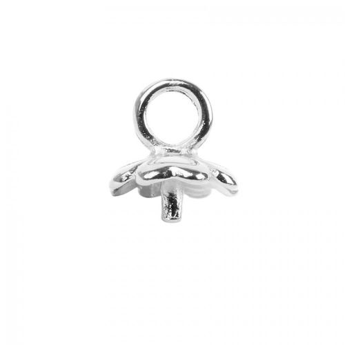 Titanium Plated Flower Cup End with Post & Loop 11mm Pk1