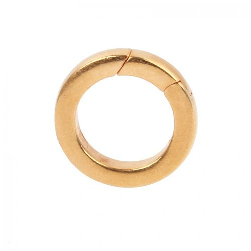 Gold Plated Brass Lever Ring Clasp 22mm Pk1