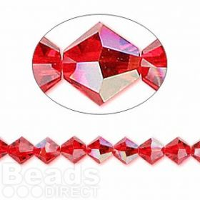 5328 Swarovski Crystal Bicones Xillion 6mm Light Siam AB Pk24