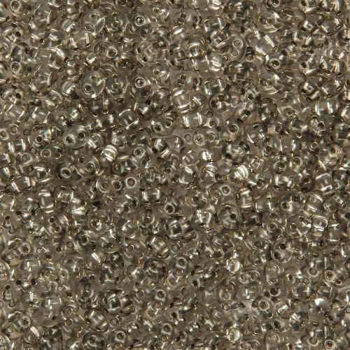 X Preciosa Twin Hole Seed Beads Silver Lined Grey 2.5x5mm 10g