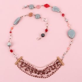 Grey and Rose Gold Connector Necklace Kit - Makes x1