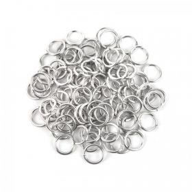 Silver Aluminium Chain Maille Rings 15mm Pk90