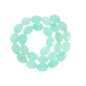 Agate / faceted oval / 14x10mm / mint / 26pcs