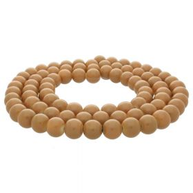 Coated beads / round / 4mm / copper / 200pcs