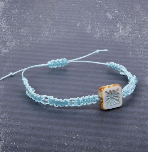North Star Macramé Bracelet