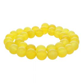 Chalcedony / round / 10mm / yellow / 38pcs