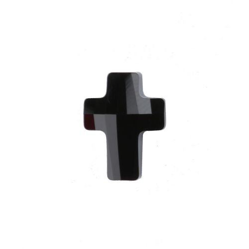 """X"" 5378 Swarovski Crystal Cross Bead 14mm Jet Pk1"