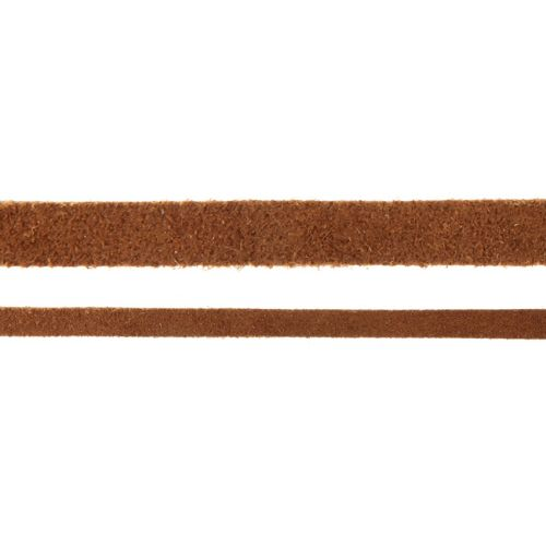 X-Brown Flat Real Suede Cord 5mm 2metres
