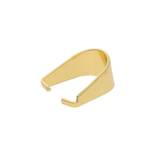 Pinch bail / surgical steel / 10x5x8mm / gold / 4pcs