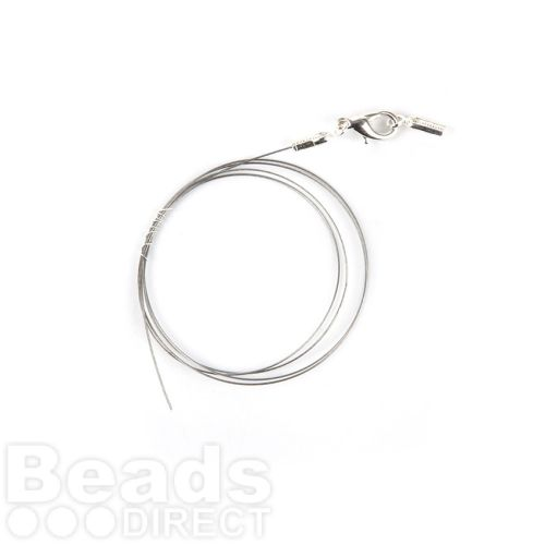 Beadalon Beads Ready 7 Strand Bright Silver Wire with Crimp and Clasp