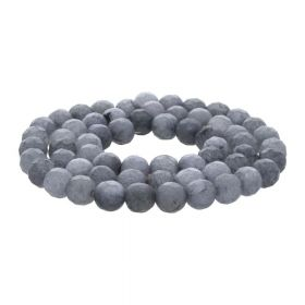 Agate / faceted round / 4mm / grey / 84pcs