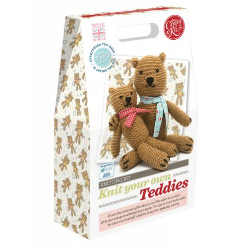 The Crafty Kit Company Knit Your Own Teddies