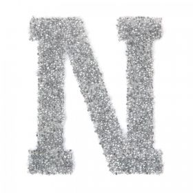 Swarovski Crystal Letter 'N' Self-Adhesive Fabric-It Transparent CAL Pk1