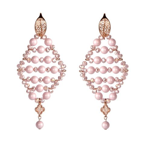 Pastel Rose Diamond Earrings