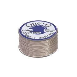 One-G ™ / nylon thread for beads / beige / 0.2mm thick / 46m