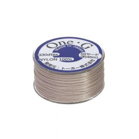 One-G ™ / nylon thread for beads / beige / 0.35mm thick / 46m