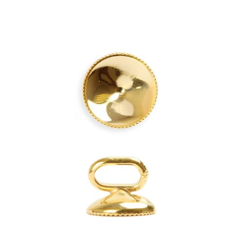 X-Gold Plated SS39(8mm) Slider Charm Holder 9mm with Faceted Edge Pk1