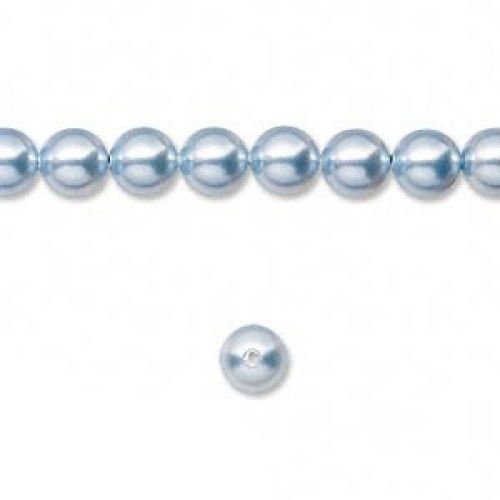 5810 Swarovski Glass Pearls 6mm Light Blue Pk50
