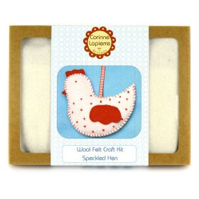 Corinne Lapierre Mini Speckled Hen Felt Craft Kit