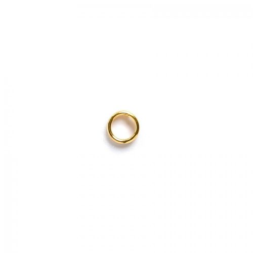Gold-plated jumpring 4mm. Pack of 100