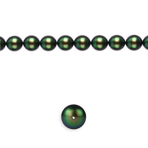 5810 Swarovski Glass Pearl 3mm Crystal Scarabaeus Green Pk100