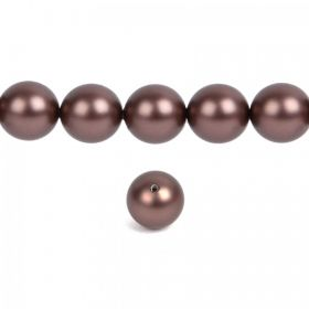 5810 Swarovski Crystal Pearls 10mm Crystal Velvet Brown Pk10