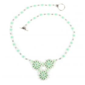 Mint and Silver Flora Cluster Necklace Take a Make Break Kit - Makes x1