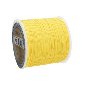 Macramé™ / Macramé cord / nylon / 0.8mm / yellow / 100m