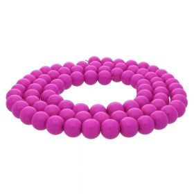 Milly™ / round / 8mm / fuchsia / 100pcs