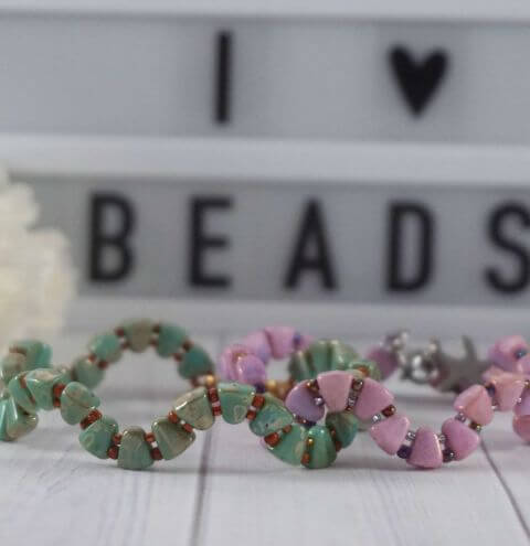 How to make a bracelet from nib-bit beads - step by step tutorial