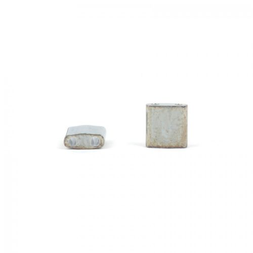 Miyuki Square Tila 5x5mm 2 Hole Opaque Golden Grey 5g