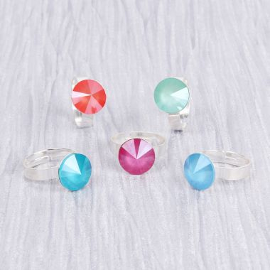Crystal Lacquer Rings with Swarovski