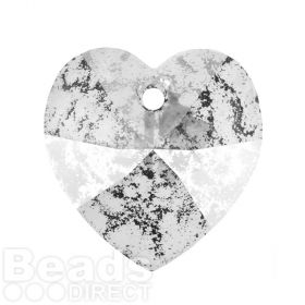 6228 Swarovski Crystal Heart 17.5x18mm Crystal Rose Patina Pk1