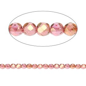Czech Fire Polished 6mm Luster Pink Pk100