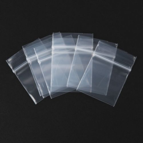 Clear Polythene Tiny Self Seal Grip Bags 30mm x 30mm Pack of 100